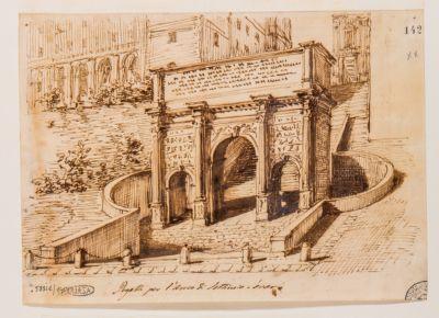 Arco di Settimio Severo, schizzo