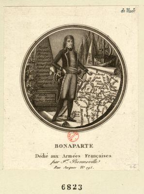 Bonaparte dédié aux armées françaises par F. Bonneville : [estampe]