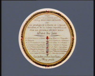 1792 l'an 1.er de la République les 4 mois bien employés [estampe]