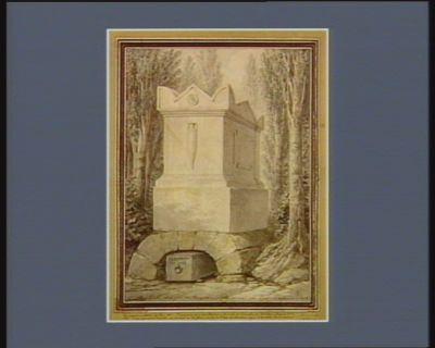 J.J. Rousseau l'an 1778 le corps de J.J.R. a été enlevé pour etre transporté au Panthéon au mois de 7.bre 1795 ((i.e. 1794]. 17 vendemiaire de lan 3 : [dessin]