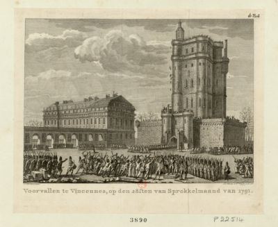 Voorvallen te Vincennes, op den 28sten van sprokkelmaand van 1791 [estampe]