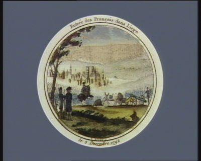 Entrée des Français dans Liège le 2 decembre 1792 : [estampe]