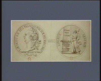 Louis XVI Roi des français pere dun peuple libre Liberté assurée : [dessin]