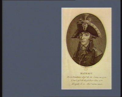 Hanriot né à Nanterre dép.t de la Seine en 1761, com.nt gé.al de la g.de Pa.ne l'an 2.eme décapité le 10 the.or même an.ée : [estampe]