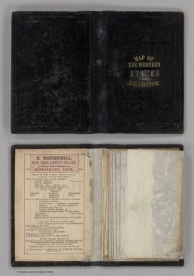 Colton S Railroad Township Map Western States Compiled From 1854 Online