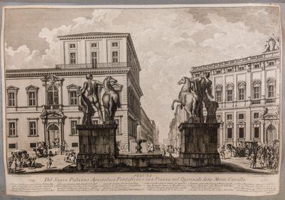 Fontana dei Dioscuri e piazza del Quirinale