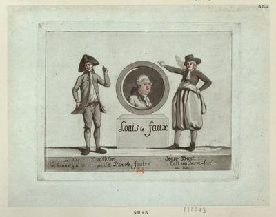 Le  Pere Duchèsne. Tout homme qui ne tient pas sa parole, foutre... Jean-Bart. Cest un Jean-foutre le 21 juin 1791 : Louis le faux : [estampe]