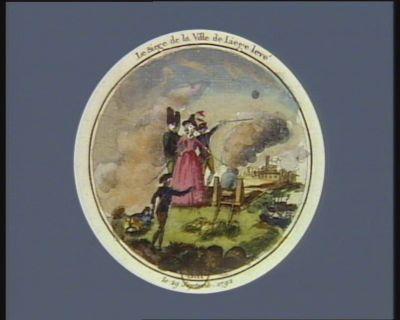 Le  Siège de <em>la</em> ville de Liège levé le 29 septembre 1792 : [estampe]