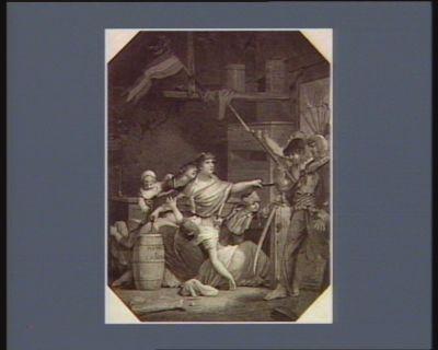 L' Héroïne de S. Mithier dédié aux femmes françaises 15 brumaire l'an premier... : [estampe]