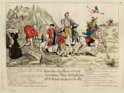 Envoi d'un supplément d'armée au ci devant prince de Condé par MM les noirs ou du cul de sac [estampe]