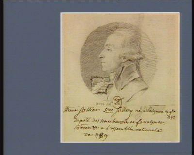 Etienne Sollier sire Sollery né <em>à</em> Saignon 3 9.bre 1743 député des sénéchaussées de Forcalquier, Sisteron etc <em>à</em> l'Assemblée nationale de 1789 : [dessin]