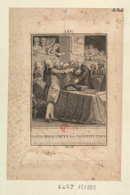 Louis XVI accepte la Constitution [estampe]