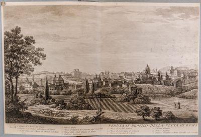 Veduta in profilo della città di Roma dalla parte di Monte Mario