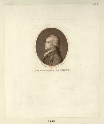 Jean Paul Rabaut de St Etienne député de la sénéchaussée de Nimes et Baucaire à l'Assemblée nationale en 1789, elu président le 13 mars 1790 : [estampe]