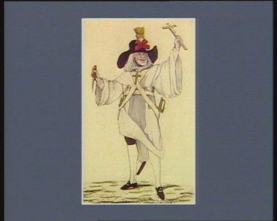 Costume d'un dominicain de l'armée des croisées belgiques tel qu'il s'est trouvé a la bataille de Falmagne le 28 septembre 1790 : [estampe]