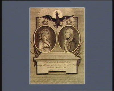 Friedrich Wilhelm III Louise Auguste Königin von Preussen : Konig v. Preussen geb.d. 3 Aug. 1770 Kön. seit d. 16 No. 1797 : [estampe]