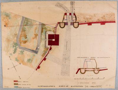 Piramide di Caio Cestio e Porta Ostiense, pianta
