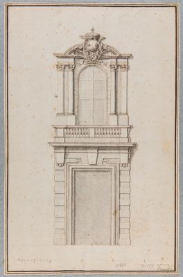 Palazzo del Collegio di S. Luigi dei Francesi. Portale