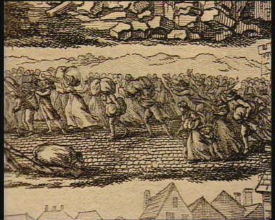 [S.T. La commission temporaire de Lyon ordonne la demolition de deux superbes maisons qui lui masquait la vue de la guillotine] [estampe]