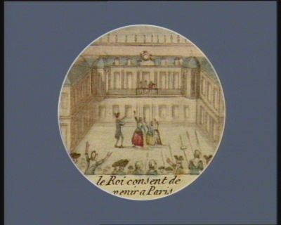 Le  Roi consent de venir a <em>Paris</em> [estampe]