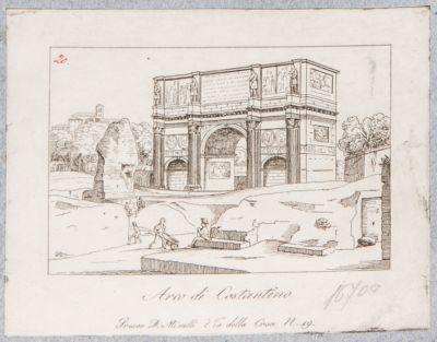 Arco di Costantino, visto dal tempio di Venere e Roma