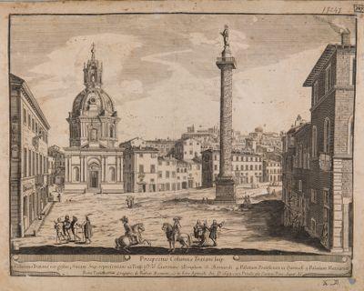 Foro Traiano, piazza veduta verso nord