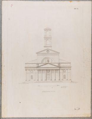 Chiesa di S. Salvatore in Lauro. Prospetto, progetto