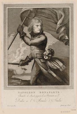 Napoleon Bonaparte bataille d'Arcole gagnée le 25 brumaire an 5.me : dedié à l'armée d'Italie : [estampe]