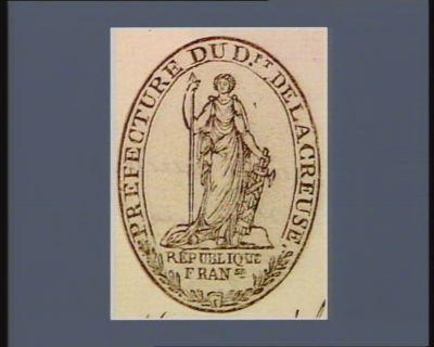 Prefecture du Dpt. de la Creuse Republique fran.se : [estampe]