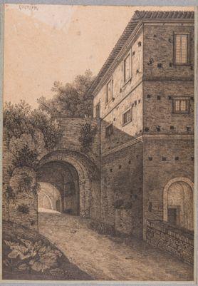Palazzo dei Cesari, avanzi degli Orti Farnesiani, Casina presso l'ingresso