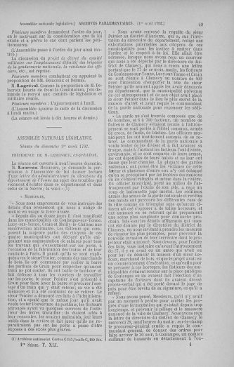Tome 41 : Du 30 mars au 16 avril 1792 - page 49