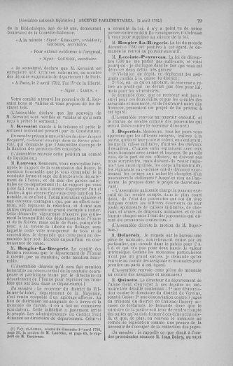 Tome 41 : Du 30 mars au 16 avril 1792 - page 79