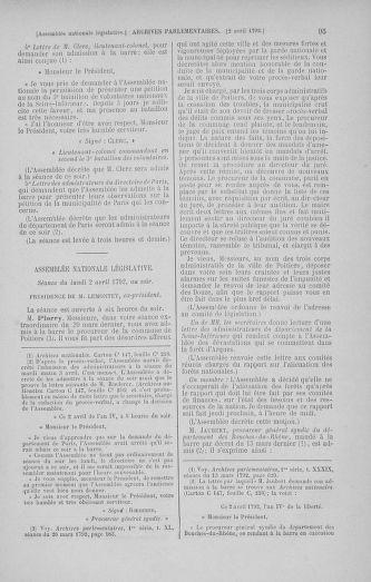 Tome 41 : Du 30 mars au 16 avril 1792 - page 95