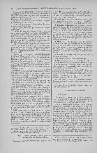 Tome 41 : Du 30 mars au 16 avril 1792 - page 96
