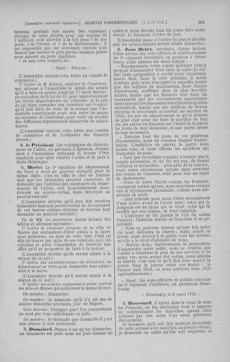 Tome 41 : Du 30 mars au 16 avril 1792 - page 101