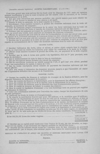Tome 41 : Du 30 mars au 16 avril 1792 - page 137
