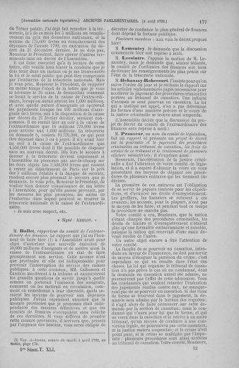 Tome 41 : Du 30 mars au 16 avril 1792 - page 177