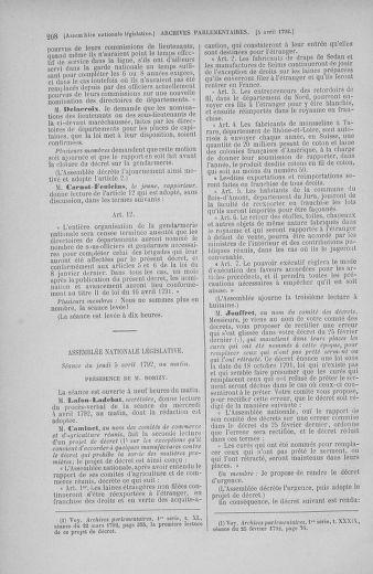 Tome 41 : Du 30 mars au 16 avril 1792 - page 208