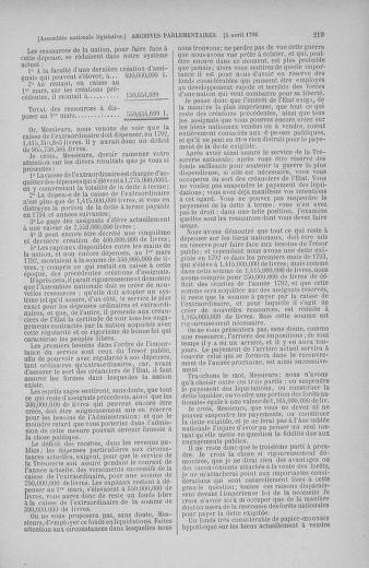 Tome 41 : Du 30 mars au 16 avril 1792 - page 219