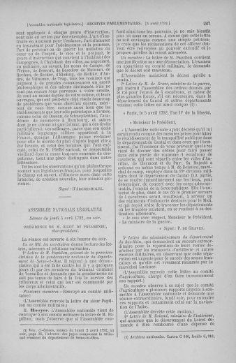 Tome 41 : Du 30 mars au 16 avril 1792 - page 227