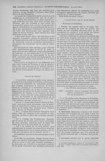 Tome 41 : Du 30 mars au 16 avril 1792 - page 232