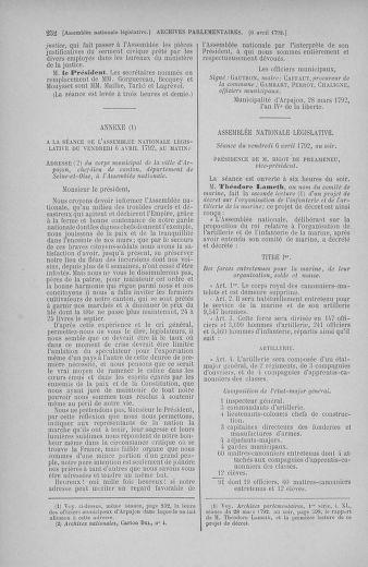 Tome 41 : Du 30 mars au 16 avril 1792 - page 252