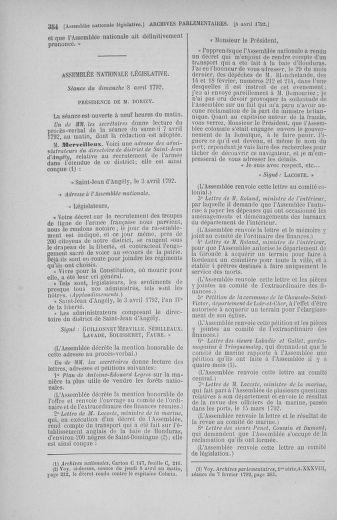 Tome 41 : Du 30 mars au 16 avril 1792 - page 354