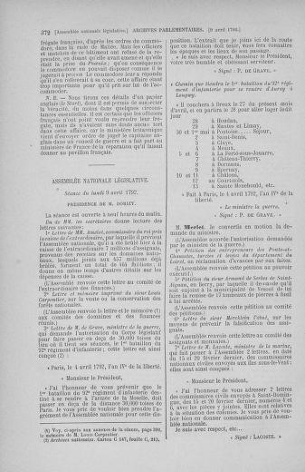 Tome 41 : Du 30 mars au 16 avril 1792 - page 372