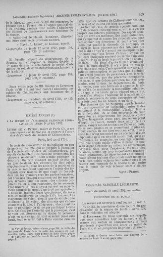 Tome 41 : Du 30 mars au 16 avril 1792 - page 409