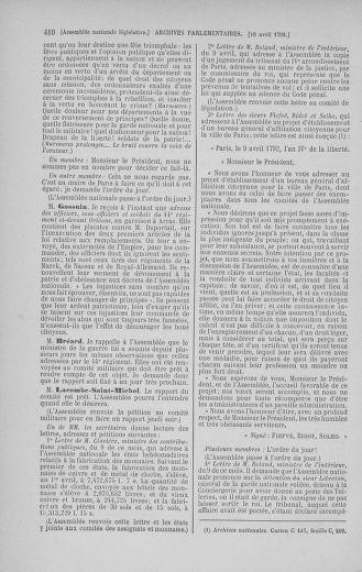 Tome 41 : Du 30 mars au 16 avril 1792 - page 410