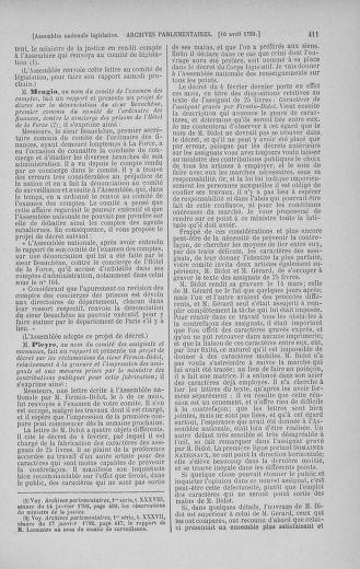 Tome 41 : Du 30 mars au 16 avril 1792 - page 411