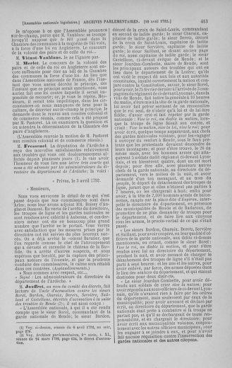 Tome 41 : Du 30 mars au 16 avril 1792 - page 413