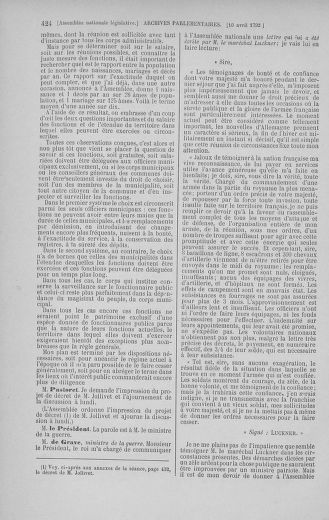 Tome 41 : Du 30 mars au 16 avril 1792 - page 424