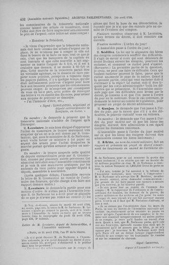 Tome 41 : Du 30 mars au 16 avril 1792 - page 452